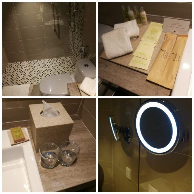 penang-hiltonバスルームとアメニティー