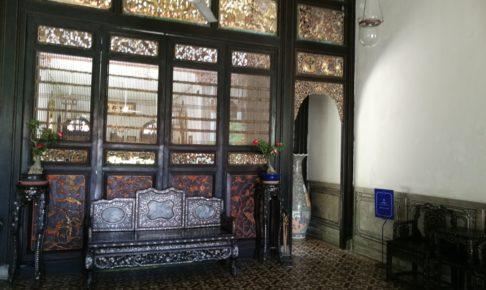 ペナン島ブルーマンション内にあるインディゴレストランの入口