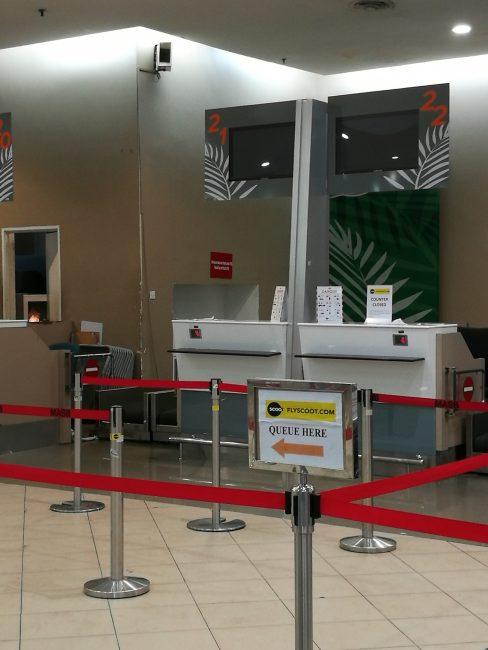 ペナン空港スクートのカウンター