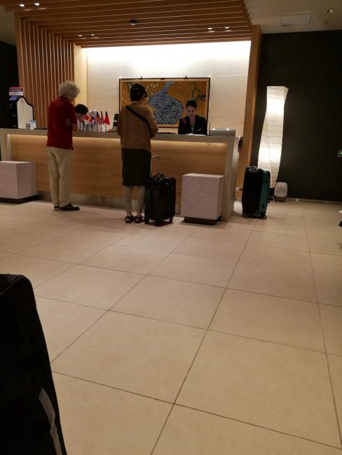 ファーストキャビン関西空港のフロント