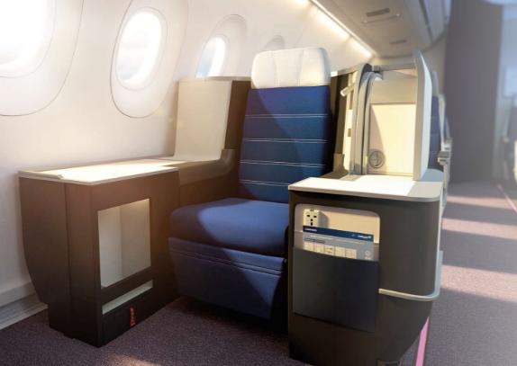マレーシア航空ビジネスクラスA350-900座席