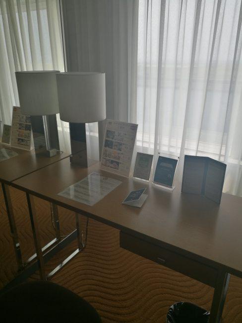 ホテル日航関西空港ビジネスクラスルームのデスク
