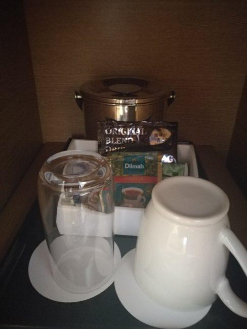 ホテル日航関西空港ビジネスクラスルーム無料珈琲、紅茶、お茶