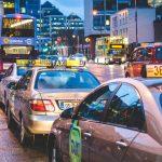 都会のタクシー渋滞の状況