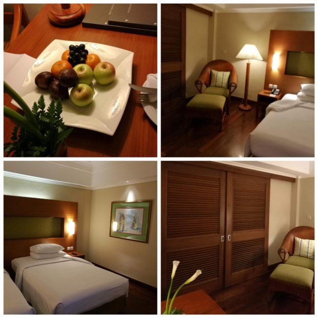 ヒルトンバリリゾートの部屋とウェルカムフルーツ