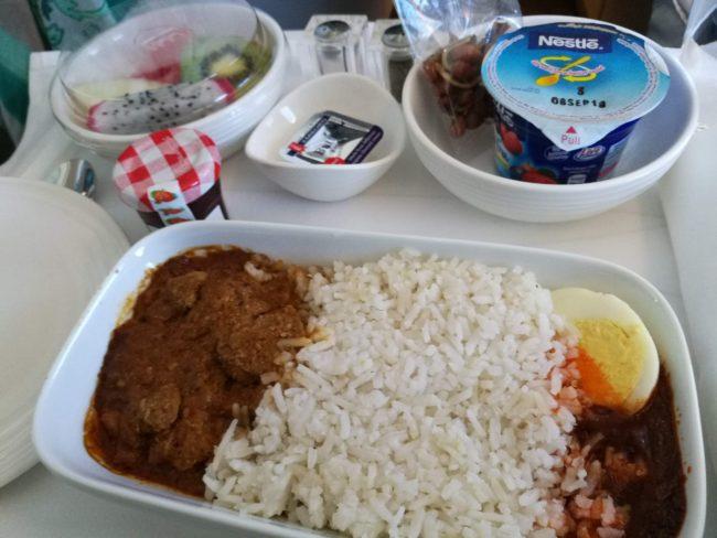 マレーシア航空バリまで機内食