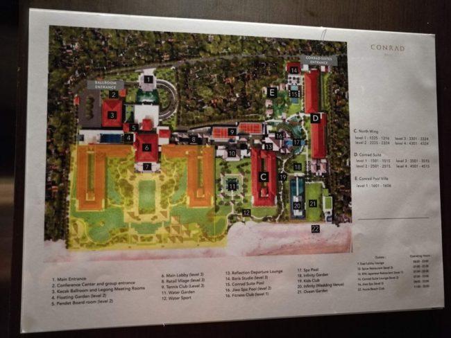 コンラッド・バリホテル内マップ