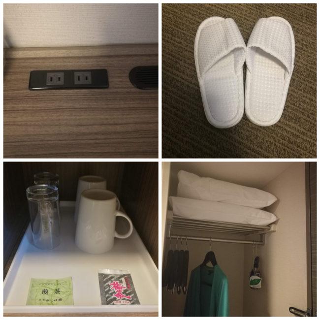 ダイワロイネットホテル札幌すすきのシングルルーム備品
