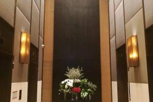 ミレニアム・ヒルトン・バンコク1階ロビーエレベーター前