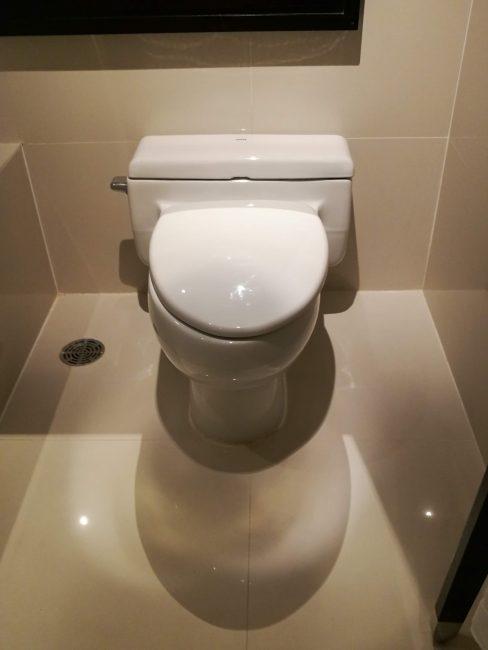 ミレニアム・ヒルトン・バンコクキングデラックスルームバスルームのトイレ