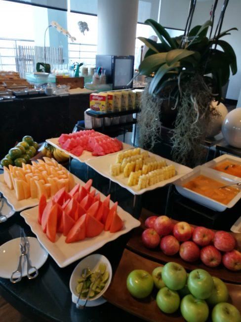 ミレニアム・ヒルトン・バンコク エウゼクティブランウンジの朝食