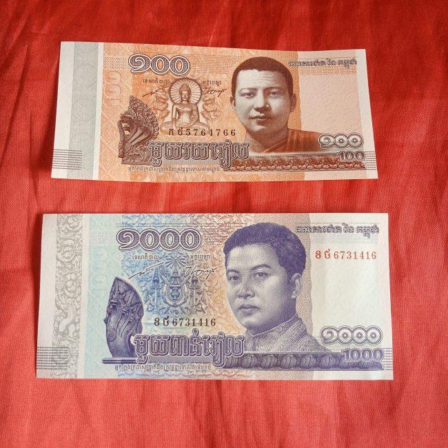 カンボジアのお札