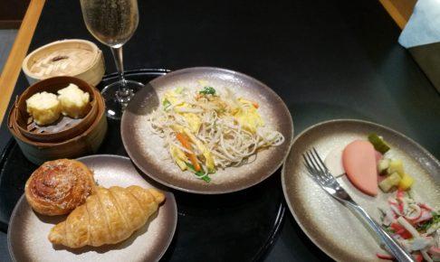 スワンナプーム空港キャセイパシフィック航空ラウンジの食事