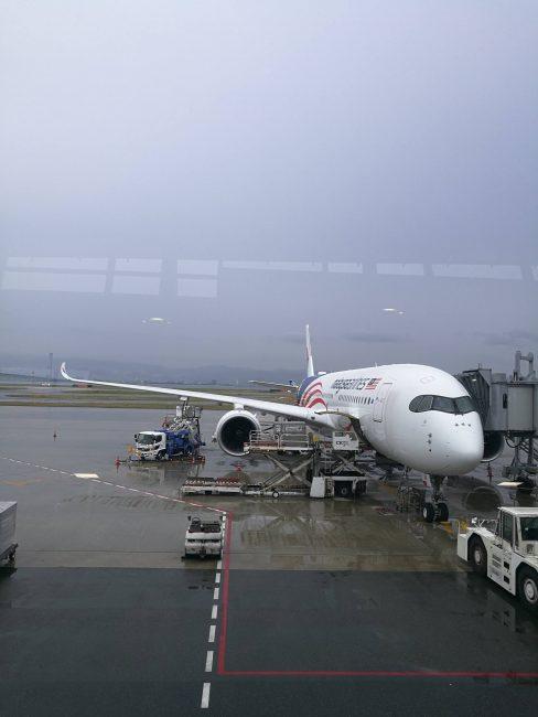 関空発クアラルンプール行きのマレーシア航空