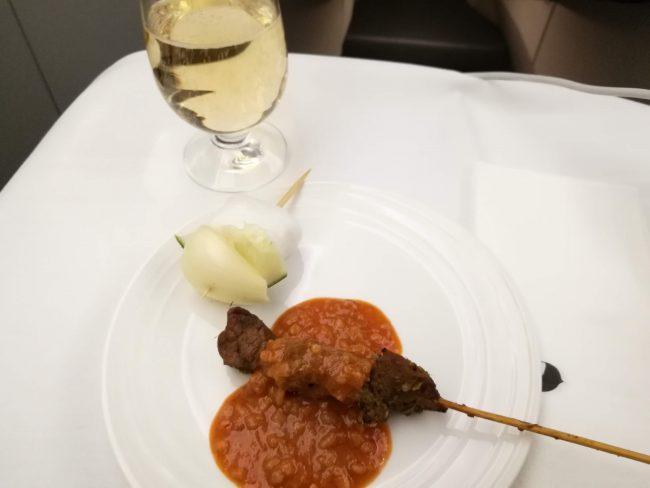 マレーシア航空ビジネスクラス機内食