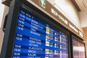 空港の電光掲示版