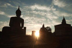 スコータイ歴史公園の日の出